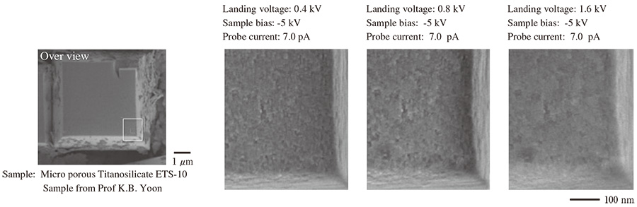 (a) Comparison of different landing voltages.