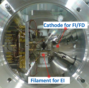 EI/FI/FD combination ion source