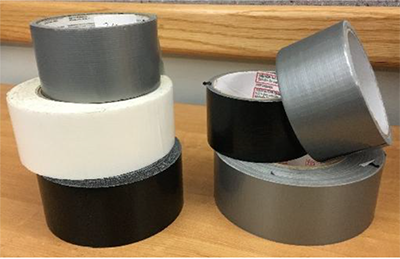 Duct tapes analyzed in this study