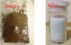 Figure 4. Before and after chemical treatment of sample