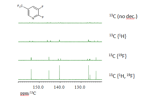 Fig.1 : various13C NMR experiments