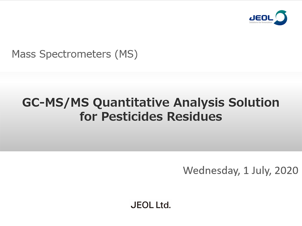 GC-MS/MS Quantitative Analysis Solution for Pesticides Residues