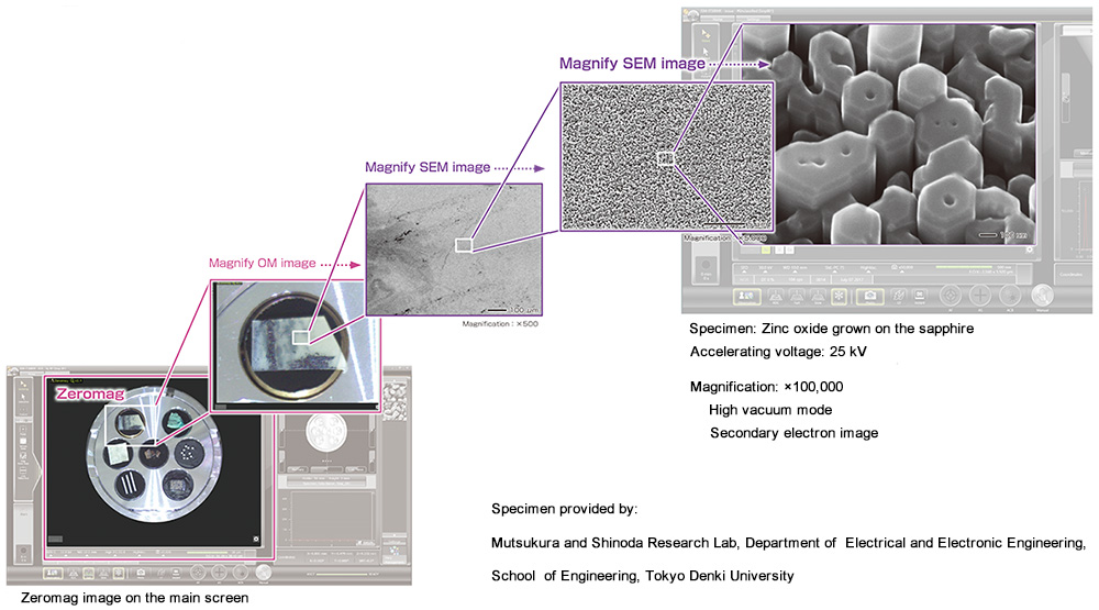 JEOL JSM-IT500HR Zeromag and high-resolution imaging