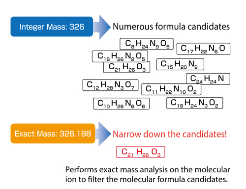 3. Exact Mass Analysis of Molecular Ions