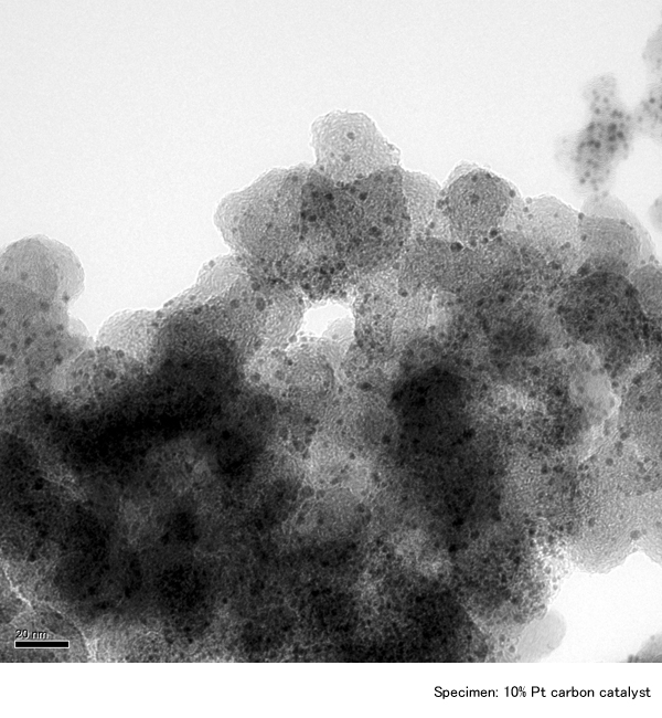 Specimen:10% Pt carbon catalyst